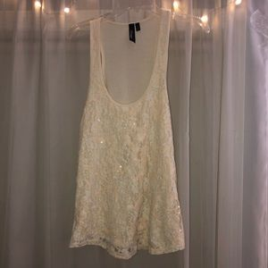 BKE lacy sparkly tank top